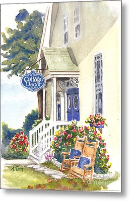 Cottage Decor Metal Print by Andrea Timm
