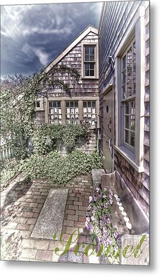 Metal Print featuring the photograph Cottage Garden - 'sconset Nantucket by Jack Torcello