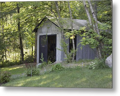 Cottage Shed Metal Print by Michel DesRoches