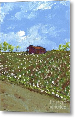 Cotton Field Two Metal Print