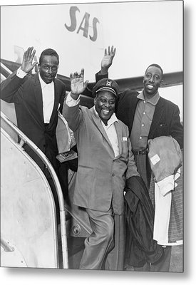 Count Basie 1904-1984 And Count Basie Metal Print by Everett