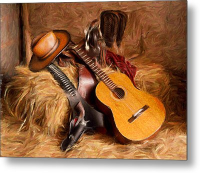 Country And Western Painting Metal Print by Peter G Dobson