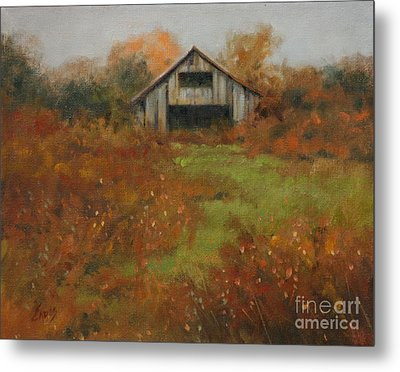 Country Autumn Metal Print by Linda Eades Blackburn