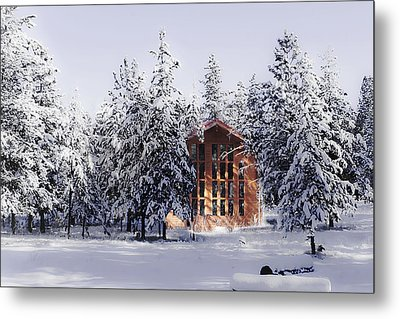 Metal Print featuring the photograph Country Christmas by Janie Johnson
