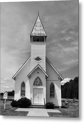 Country Church Metal Print by Steven Ainsworth