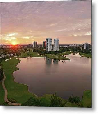 Country Club At Sunset Metal Print by Elido Turco Photographer
