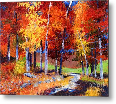 Country Club Fall Plein Air Metal Print