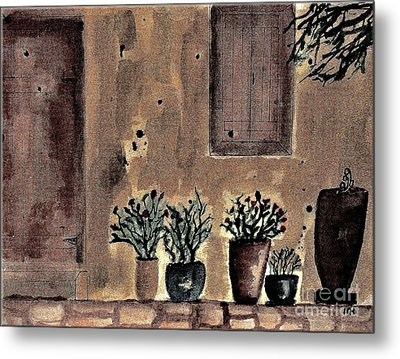 Country Cottage Metal Print by Marsha Heiken