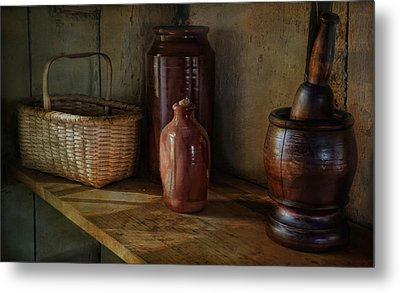 Country Cupboard Metal Print by Robin-Lee Vieira