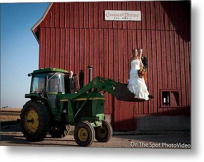 Country Farm Wedding Metal Print by Sidney Dumas