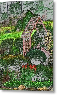 Country Gardens Metal Print by Debra     Vatalaro