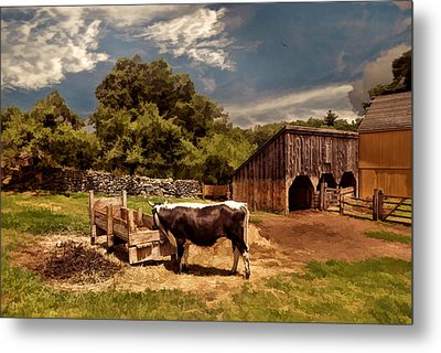 Country Life Metal Print by Lourry Legarde