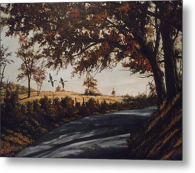 Metal Print featuring the painting Country Road by James Guentner