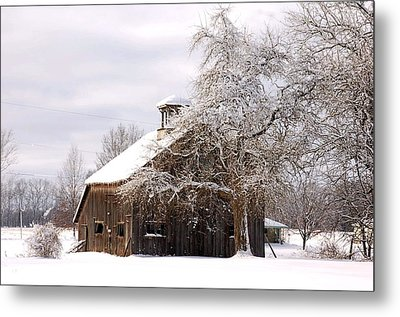 Country Winter Metal Print by Monica Lewis