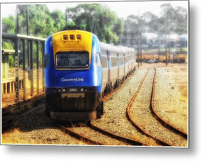 Metal Print featuring the digital art Countrylink Taree 01 by Kevin Chippindall