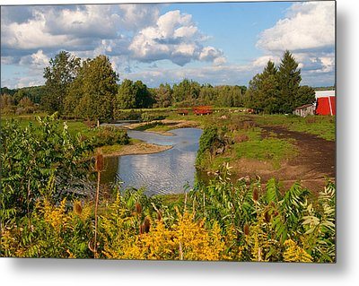Metal Print featuring the photograph Countryside by Cindy Haggerty