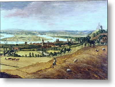 Countryside In London, England, 17th Century Metal Print by Photos.com