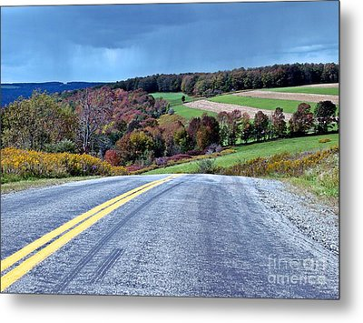 Metal Print featuring the photograph County Road by Christian Mattison
