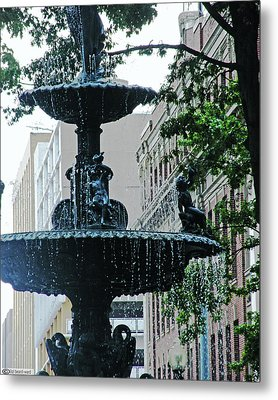 Metal Print featuring the photograph Court Square Memphis by Lizi Beard-Ward