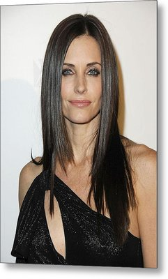 Courteney Cox At Arrivals For Fx Metal Print by Everett