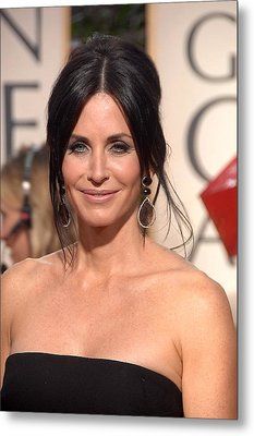 Courteney Cox Wearing Ofira Schwartz Metal Print by Everett