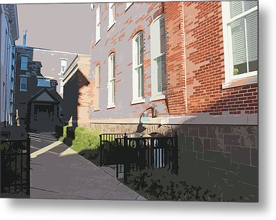 Courthouse Alley Metal Print by Frank Nicolato