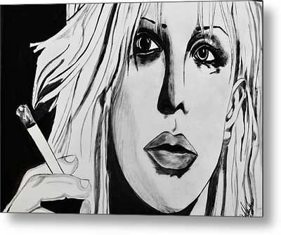 Courtney Love Metal Print by Cat Jackson