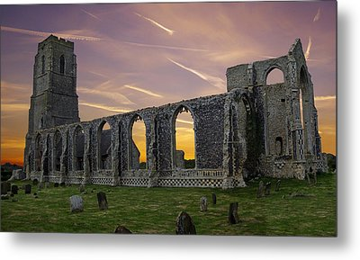 Covehithe Abbey - Suffolk Metal Print by Rod Jones