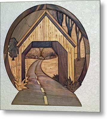 Covered Bridge Metal Print by Bill Fugerer