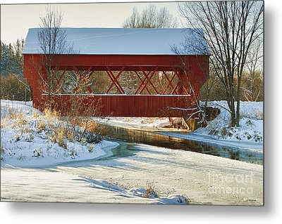 Metal Print featuring the photograph Covered Bridge by Eunice Gibb