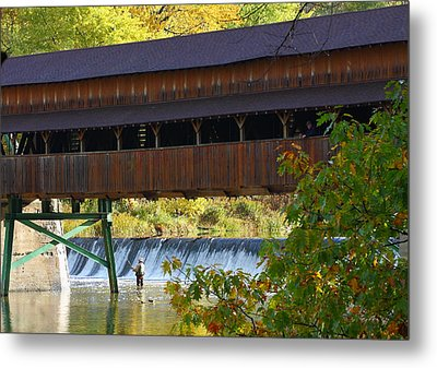 Covered Bridge Metal Print by Kevin Schrader