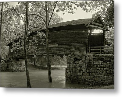 Metal Print featuring the photograph Covered Bridge by Mary Almond