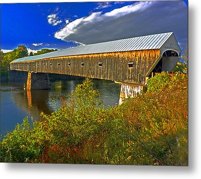 Metal Print featuring the photograph Covered Bridge by William Fields