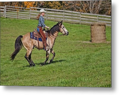 Cowgirl At Heart Metal Print