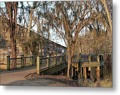 Cox Warehouse At Dusk Metal Print by Sandra Anderson