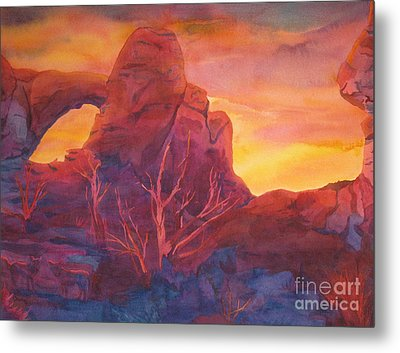 Coyote Dusk Metal Print by Vikki Wicks