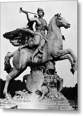 Coysevox: Fame And Pegasus Metal Print by Granger