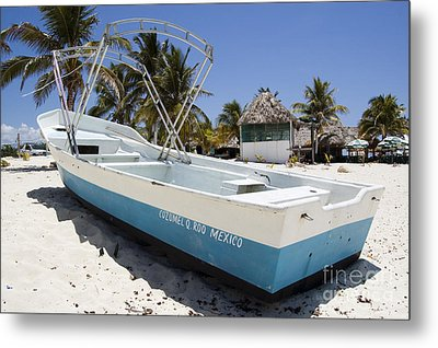 Metal Print featuring the photograph Cozumel Mexico Fishing Boat by Shawn O'Brien