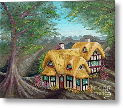 Cozy Cottage From Arboregal Metal Print