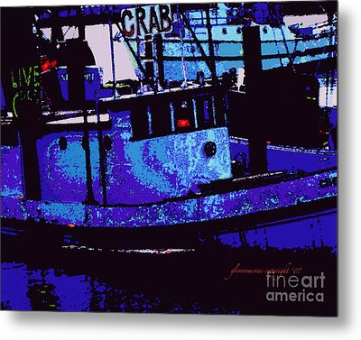 Metal Print featuring the digital art Crabs For Sale by Glenna McRae