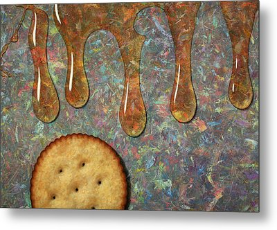 Cracker Honey Metal Print by James W Johnson