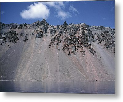 Crater Lake Volcanic Wall, Usa Metal Print by Dr Juerg Alean