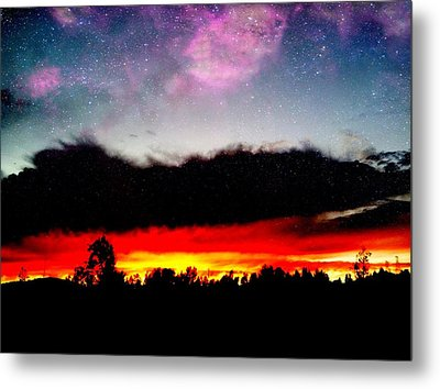 Crazy Sunset Metal Print by Raven Janush