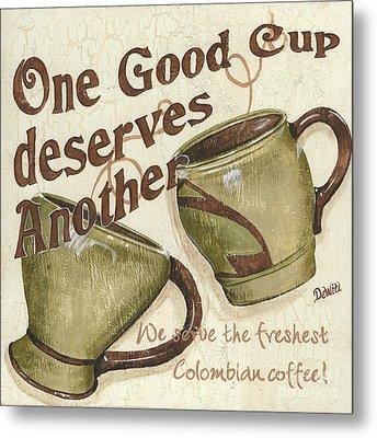 Cream Coffee 2 Metal Print by Debbie DeWitt