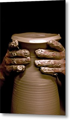 Creation At The Potter's Wheel Metal Print