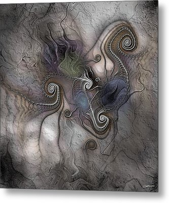 Metal Print featuring the digital art Creatively Calcified by Casey Kotas
