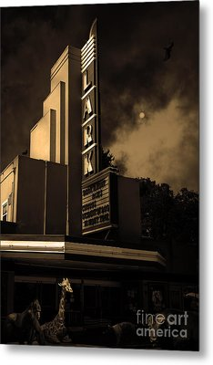 Creature Feature At The Lark - Larkspur California - 5d18484 - Sepia Metal Print