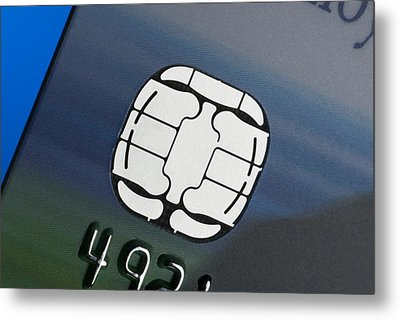Credit Card Microchip Metal Print by Steve Horrell