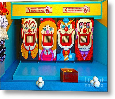 Creepy Clown Game Metal Print by Gregory Dyer