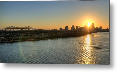 Metal Print featuring the photograph Crescent City Sunset by Ray Devlin